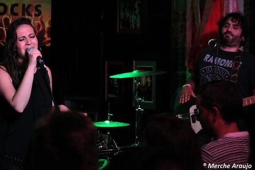 Maria Villalón y la Mery Band en el Hard Rock Café (Madrid, 03/10/2013)