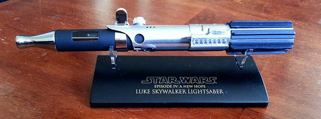 Custom Master Replicas .45 Luke ANH Lightsaber e-Cigarette Mod (vaping) (vape) (eCig) (e-cig) 13016526054_3b628b75c6_z
