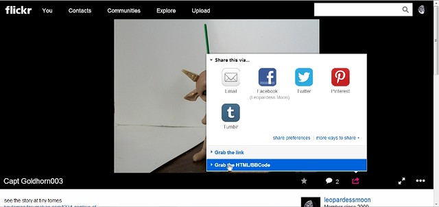 HOW TO post a picture from *NEW* Flickr 8922174855_f2e31db927_z