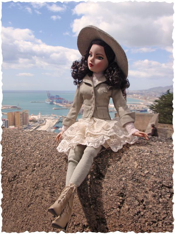 Ellowyne Essential Brunette visite la forteresse de Malaga (Espagne) 2646418823_2417c413bf_o