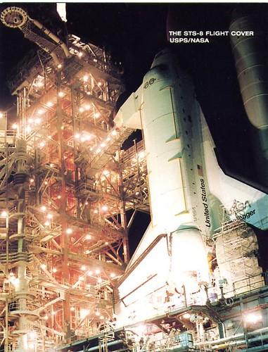 STS-8 / TRULY BRANDENSTEIN BLUFORD GARDNER THORNTON / CHALLENGER / FLOWN COVER