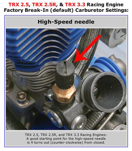 Réglages d'usine des moteurs TRX 2.5 2.5R 3.3 2997409170_a46d758b2d