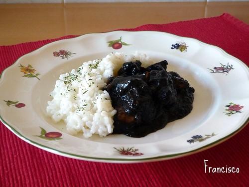 Calamares en su tinta (del libro básico) con arroz = arroz negro 3306481524_2cfef5aee2