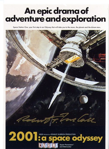 2001 SPACE ODYSSEY / MOVIE COVER / ROBERT McCALL