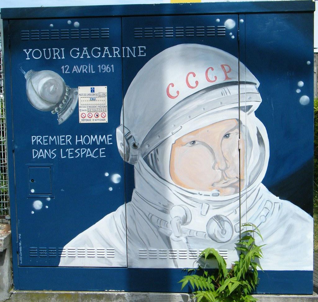 YOURI GAGARINE / VOSTOK 1 / STREET SPACE ART