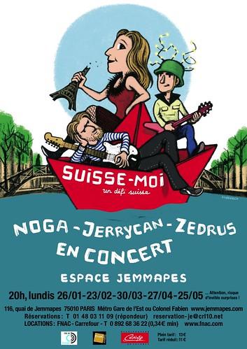 Suisse Moi ! Zedrus, Jerrycan, Noga à l'Espace Jemmapes 3179639708_e776ef834c