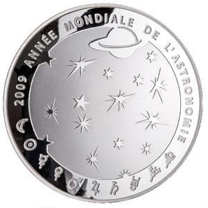 APOLLO 11 / ANNEE MONDIALE DE L'ASTRONOMIE 2009 / FRANCE 50 EUROS ARGENT