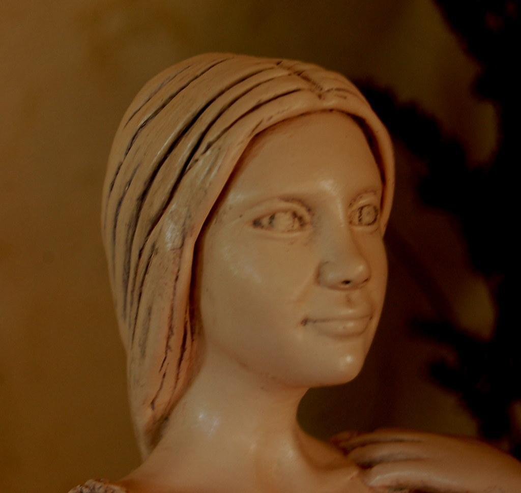 Sculpture modelage drapé après patine bleutée 3804653544_c7a72609f5_b