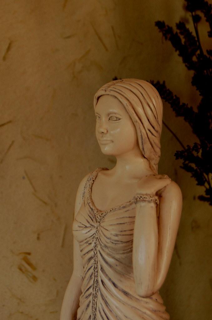 Sculpture modelage drapé après patine bleutée 3803835875_3a0e972f35_b