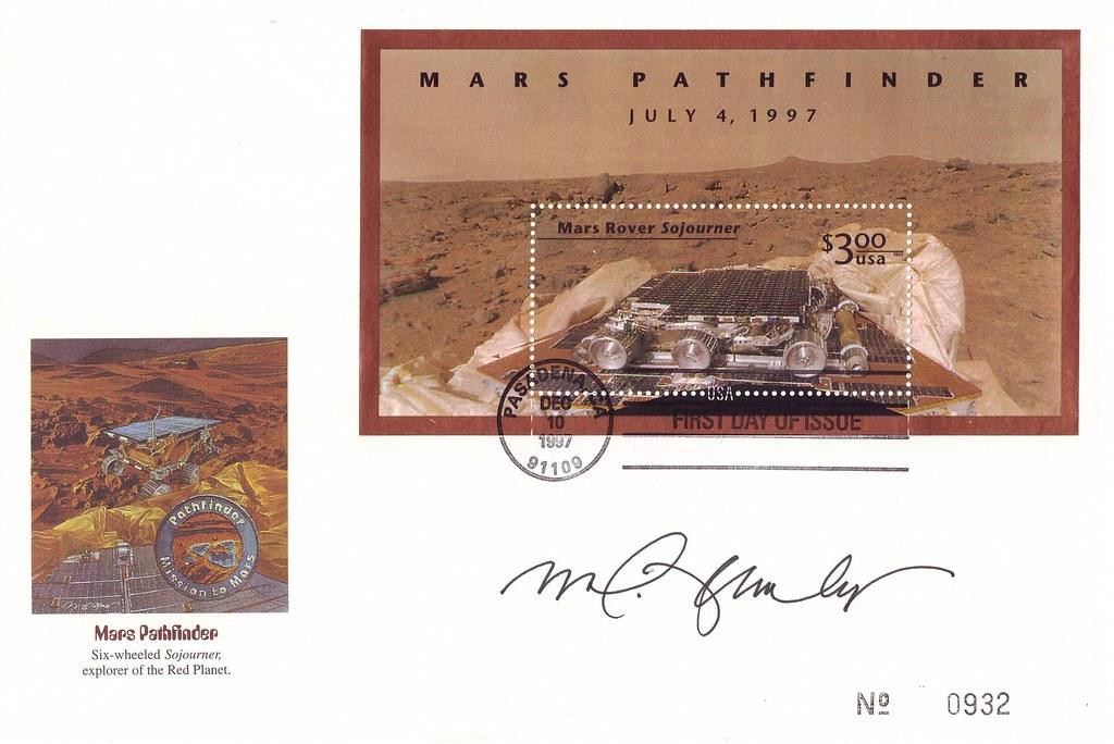 4 JUILLET 1997 / MARS PATHFINDER & SOUJOURNER SE POSE SUR MARS