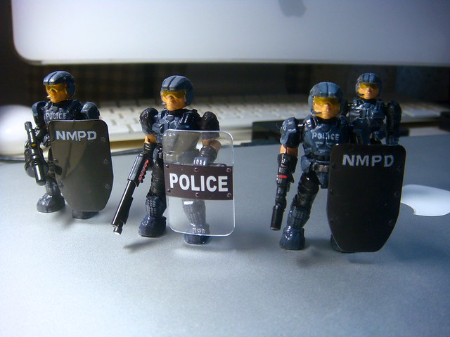 NMPD Police with riot shield! 9238463509_ca7e777a73_z