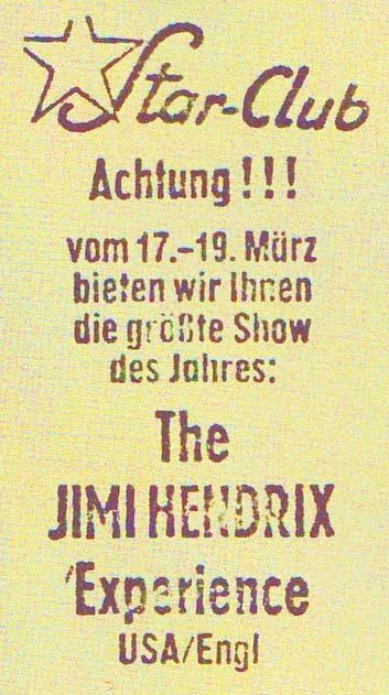 Hambourg (Star Club) : 19 mars 1967 [Premier concert] 4211641087_e6ecf10b4b_o