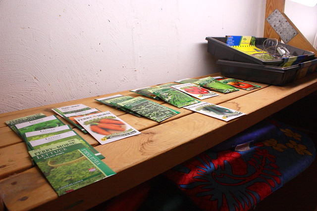 Seed starting station.. 5387846442_15175c3456_z