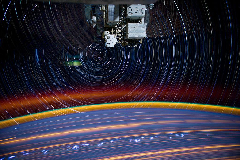 """[ISS] """"ISS star trails"""" 7197236836_8f40592c8a_b"""