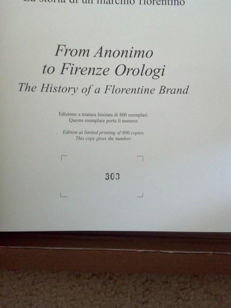 MY new Limited Edition Anonimo!! 7421491790_6b09aeca6e_b
