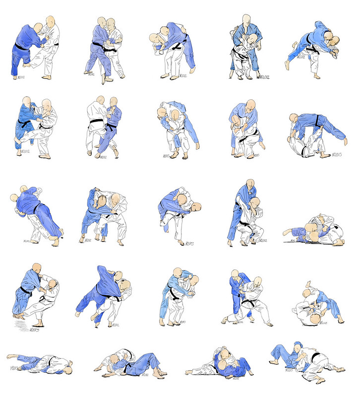 24 free judo technique illustrations 9486605598_a28e885d63_c
