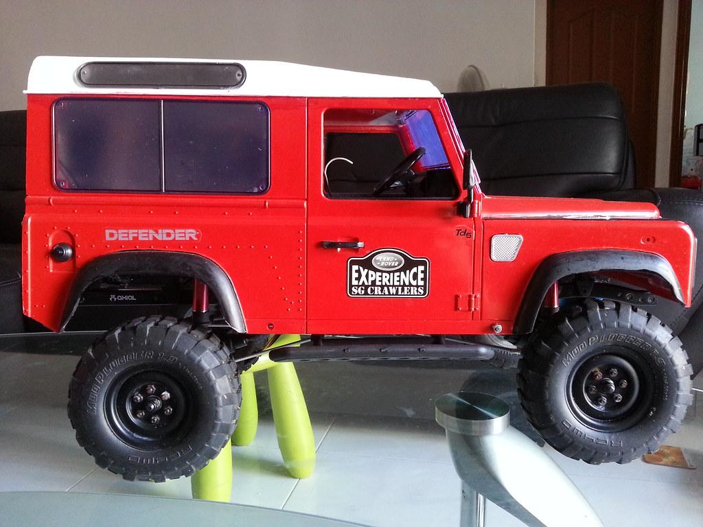 land - Babyboy's Land Rover Defender D90 on Axial SCX10 10524065545_ec0c38ce7e_b