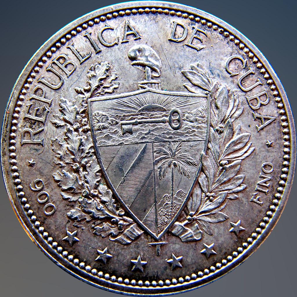 """Cuba 1897. ! Peso """"Souvenir"""" Tipo M3 11324577534_2f3a785919_b"""