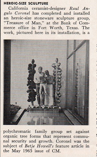 Ceramics Monthly Oct 65 - Raul Coronel letters