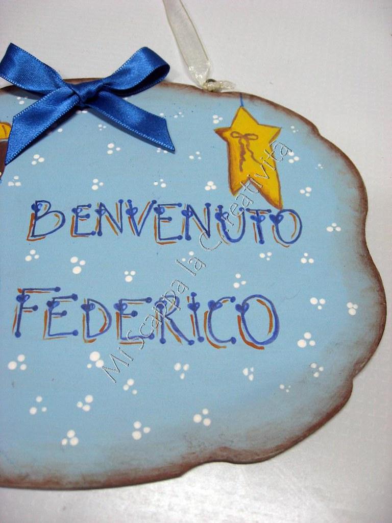 Targhetta di nascita per dare il benvenuto a Federico 6505102415_905de06e8a_b