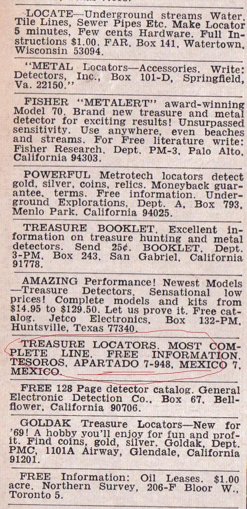 Detectores antiguos, (anuncios) 6983666359_1d5b1c611d_b