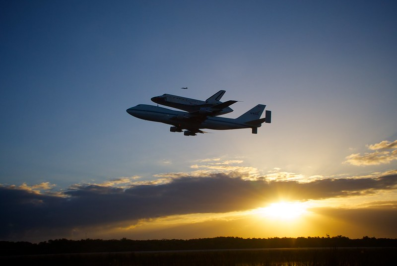 Space Shuttle Discovery Departs the Kennedy Space Center for the last time