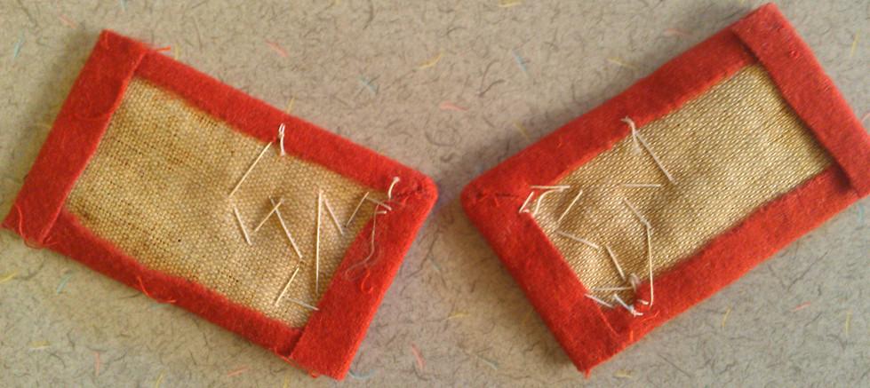 Austro-Hungarian NCO Collar Tabs 7218400412_5970394a5c_b