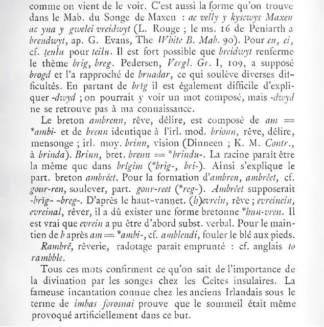 eng. dream, d. Traum, fr. rêve, rêver, rêvé en breton: huñvre etc. 7396329666_c779a98a7d_z