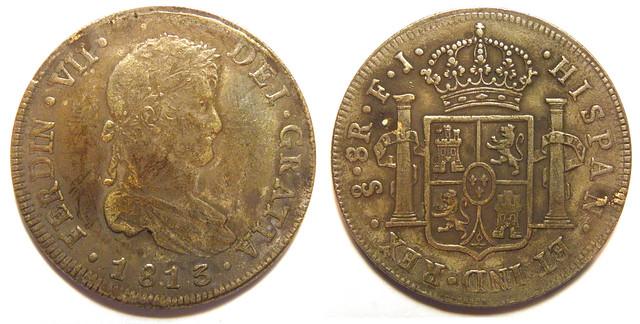 8 Reales Fernando VII. Santiago 1813 ¿Falsa? 6686093753_0f3915a4e1_z