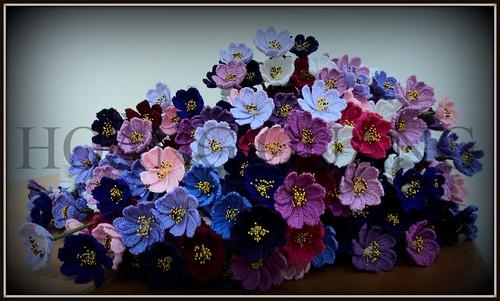 Móc hoa bằng len sợi