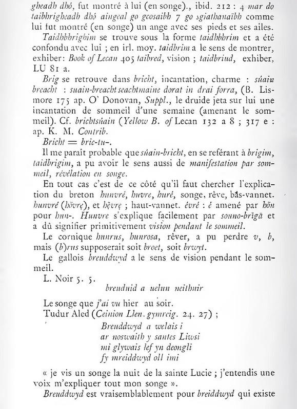 eng. dream, d. Traum, fr. rêve, rêver, rêvé en breton: huñvre etc. 7396326214_a3b5bafce9_c