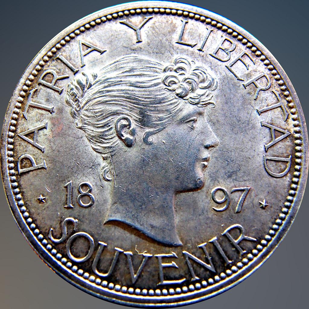 "Cuba 1897. ! Peso ""Souvenir"" Tipo M3 11324619213_9621781872_b"