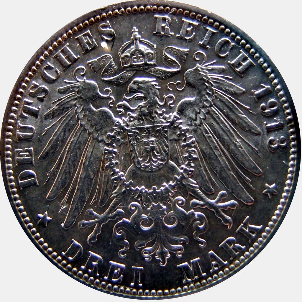 3 MARCOS 1913 HAMBURGO 10440076604_f2d688724b_b