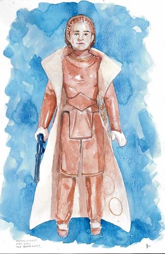Custom watercolor art of vintage Star Wars figures by Alistair Eales 11931651963_620cdf3606