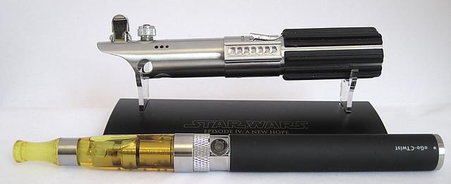 Custom Master Replicas .45 Luke ANH Lightsaber e-Cigarette Mod (vaping) (vape) (eCig) (e-cig) 13086284855_fce79a1311_z