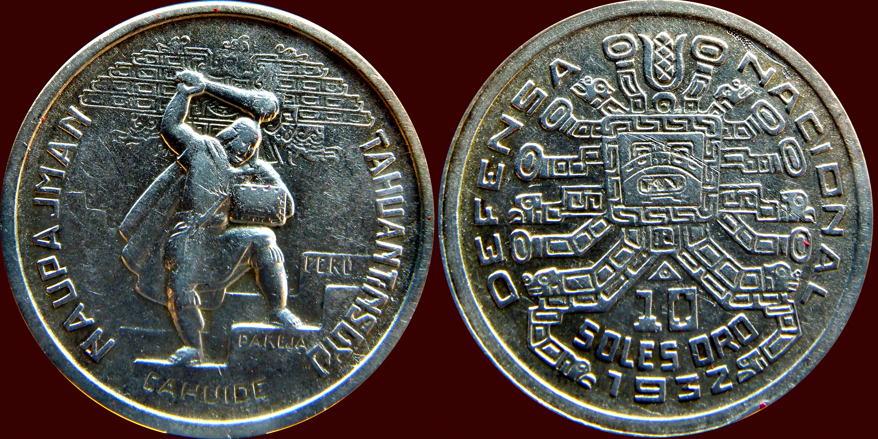 10 Soles de oro, Peru 1932. Óbolo de Defensa Nacional 13017760353_676cc28535_o