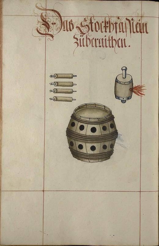 [iconographie] 16e Ms. Codex 109 - Feuer Buech Grenades, projectiles, fireworks... 8217305452_424c3f1384_c