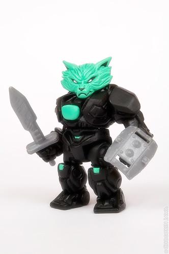 Black Hades Mimic Armorvor with Beast Saga BS-04 Raioga weapons