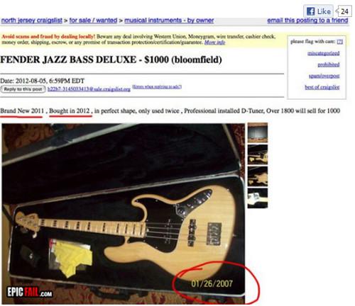 Osramotio se prodavajući gitaru na oglasniku 8011445769_ee83e0d3dd_b