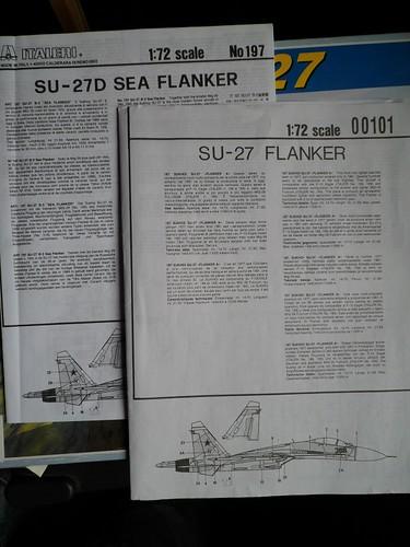 Pas-à-pas : Sukhoi 27 Flanker [CC:Lee 1/72 ] 8580596157_823f05363d