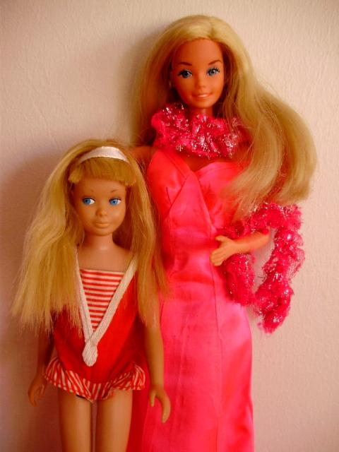 Superstar Barbie 1977 & Skipper 1964