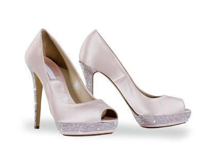 Обувки 4minipeep-toe-satin-cristalli