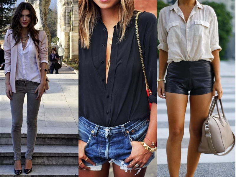 Moda ulice - Page 3 2015-Summer-Button-Down-Shirts-Street-Style-Trends-1