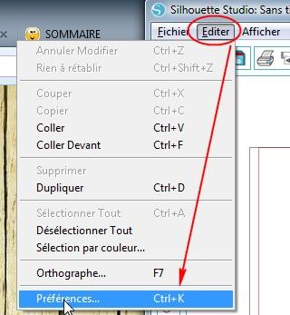 01 - Récupérer les 51 motifs gratuits livrés avec les machines  Editer-Preferences-menu