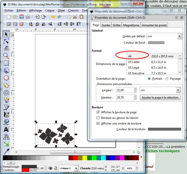 Découper directement depuis Inkscape - Maj 05/07/2010 (p 1) ParamPage
