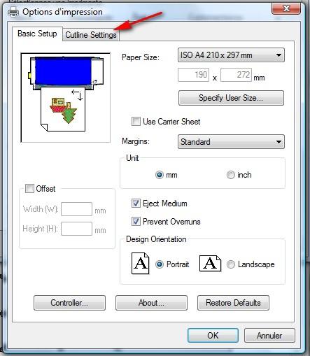 Découper directement depuis Inkscape - Maj 05/07/2010 (p 1) Preferences