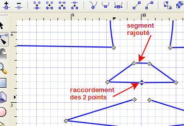 Comment relier 2 points dans la vectorisation sous Inkscape JoindreNoeuds_bis