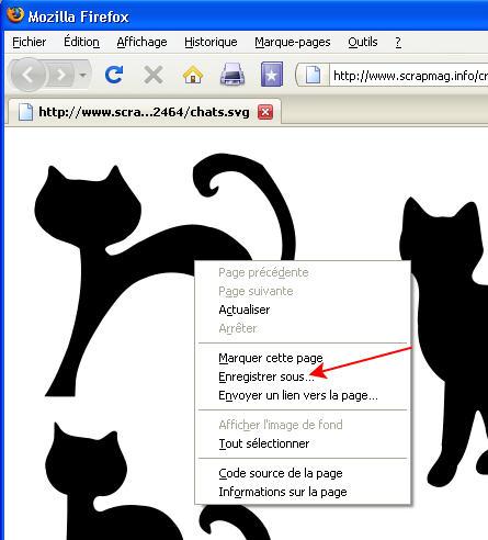 dessin de chat EnregistrerSVG