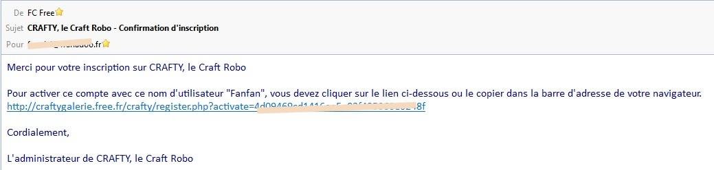 06 - La galerie : inscription (obligatoire) Mailconfirmation_galerie