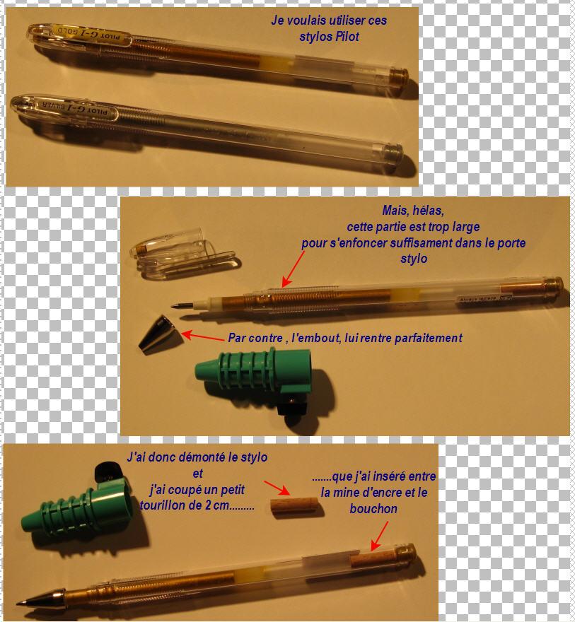 Truc pour utiliser un stylo Pilot G1 StyloPilot-PorteCrayon